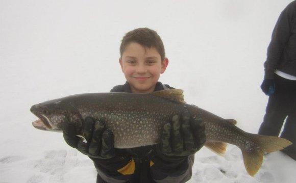 Ice fishing Lake George