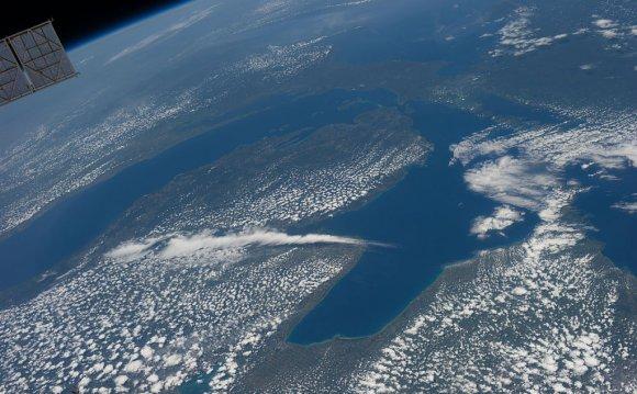 Lake Michigan and lake huron