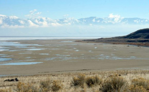 Great Salt Lake at near-record