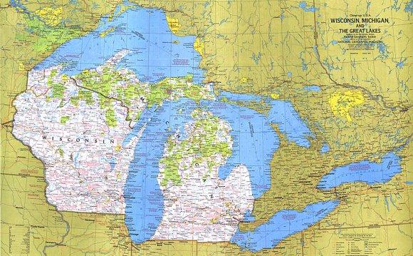 Wisconsin, Michigan