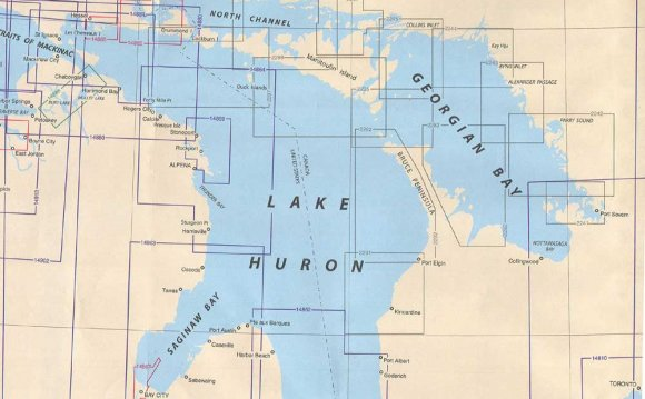 Chart index for Lake Huron