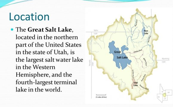 Location The Great Salt Lake