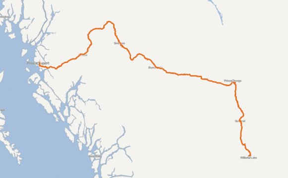 Prince Rupert to Williams Lake