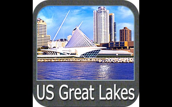 US Great Lakes - GPS Map