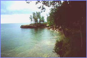 Big Bay State Park is located in Lake Superior on Madeline Island