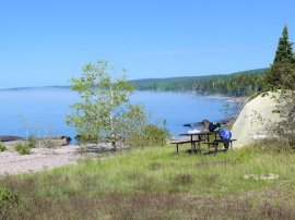camping at bay furnace munising michigan