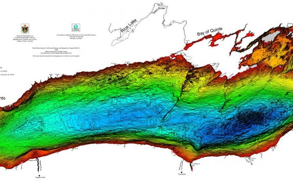 Lake Huron bathymetry
