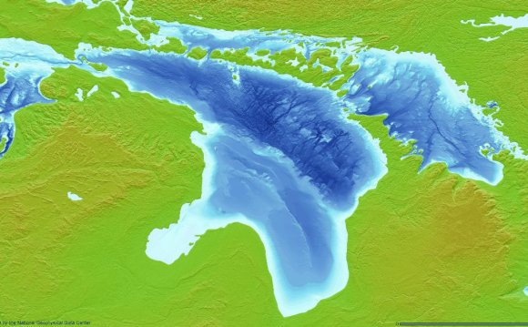 What is the depth of Lake Huron?