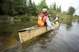 Dave and Amy Freeman in Boundary Waters Canoe Area Wilderness