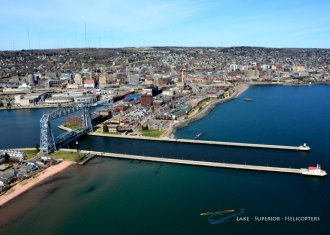 Duluth from the air