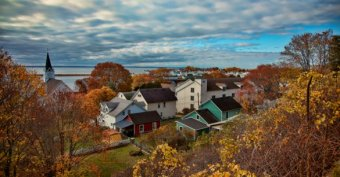 Fall on Mackinac Island in northern Michigan.