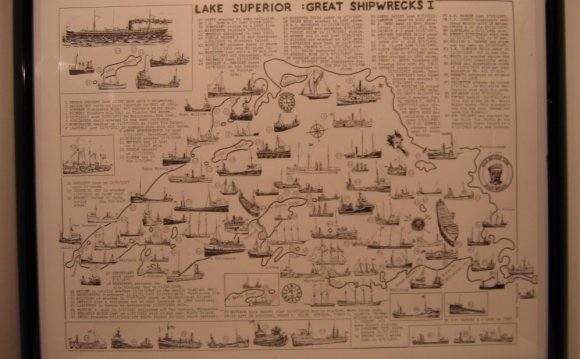 Lake Huron shipwrecks Map