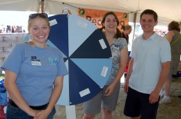 Here I am (left), with Allison Voglesong (center), and Justin Sterk (right), showing off our