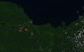 Ishpeming Mine from Space