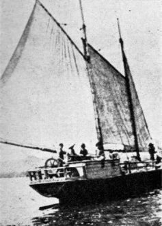 Lady of the Lake, a fifty foot schooner circa 1859.
