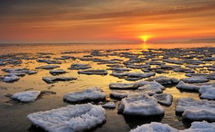 Lake Huron ice