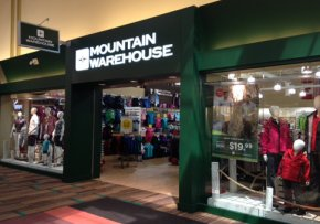 Mountain Warehouse store front