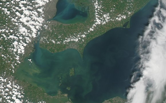 Satellite imagery of Lake Erie