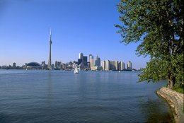 Ontario, Lake: view of the Toronto skyline [Credit: Wolfgang Kaehler]