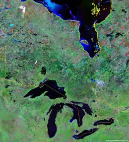Ontario satellite photo
