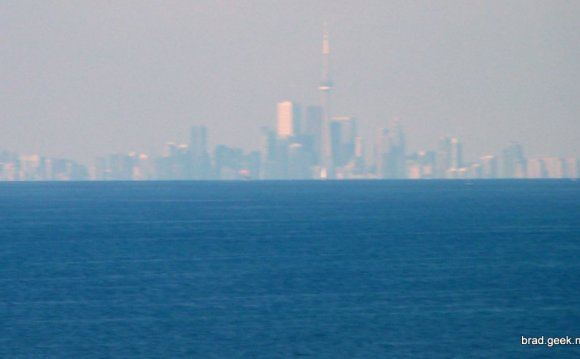Distance across Lake Ontario