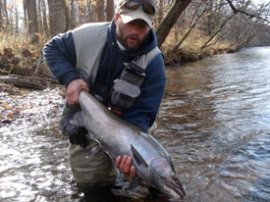 Photo of Angler with large steelhead