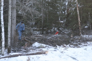 Red Lake crash wreckage