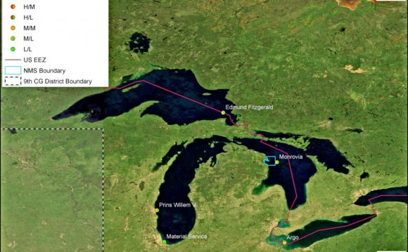 Names of Great Lakes Map