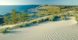 Sand Dune and great Lake scenic