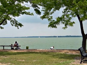 Sandusky Bay overlooking Lake Erie Islands