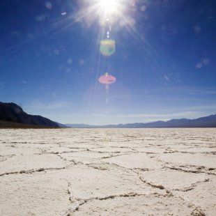The Bonneville Salt Flats are the most famous portion of the Great Salt Lake Desert.