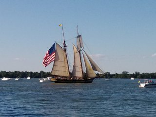 The Brig Niagara, pride of Erie, PA, fought in the Battle of 1812.