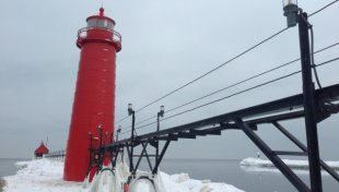 The pier at Grand Haven on Jan. 21, 2015.