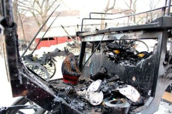 Thirteen horse carriages were destroyed in a fire early Friday morning in Old Town.