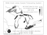 Ice coverage Great Lakes