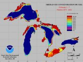 Ice coverage on Lake Superior