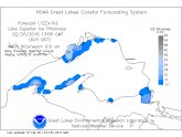 Lake Superior ice thickness