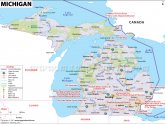 Map of Michigan and Great Lakes