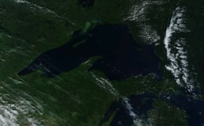 Upper Peninsula Satellite Image