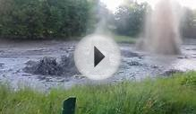 Gas Geysers Erupting on Lake Huron Shore, Canada [video]
