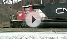 GEXR 581 with CN power in Goderich salt mine 26.11.09 8661