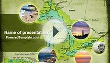 Great Lakes PowerPoint Template by PoweredTemplate.com