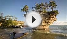 Turnip Rock – a Rocky Remote Islet on Lake Huron, USA HD