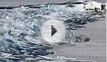 Video shows waves of frozen Lake Superior breaking up on
