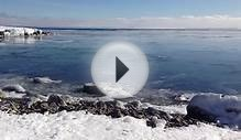Winter Tidal Surges on Lake Superior at Two Harbors, Minnesota