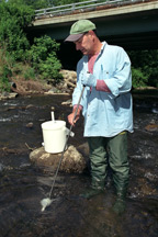 Water chemistry sampling in a NYS stream