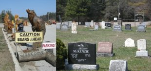 Who buys these things? I'm talking about the bear statues for sale along Highway 11, not the family plots at the Symington cemetery in Kahshe Lake
